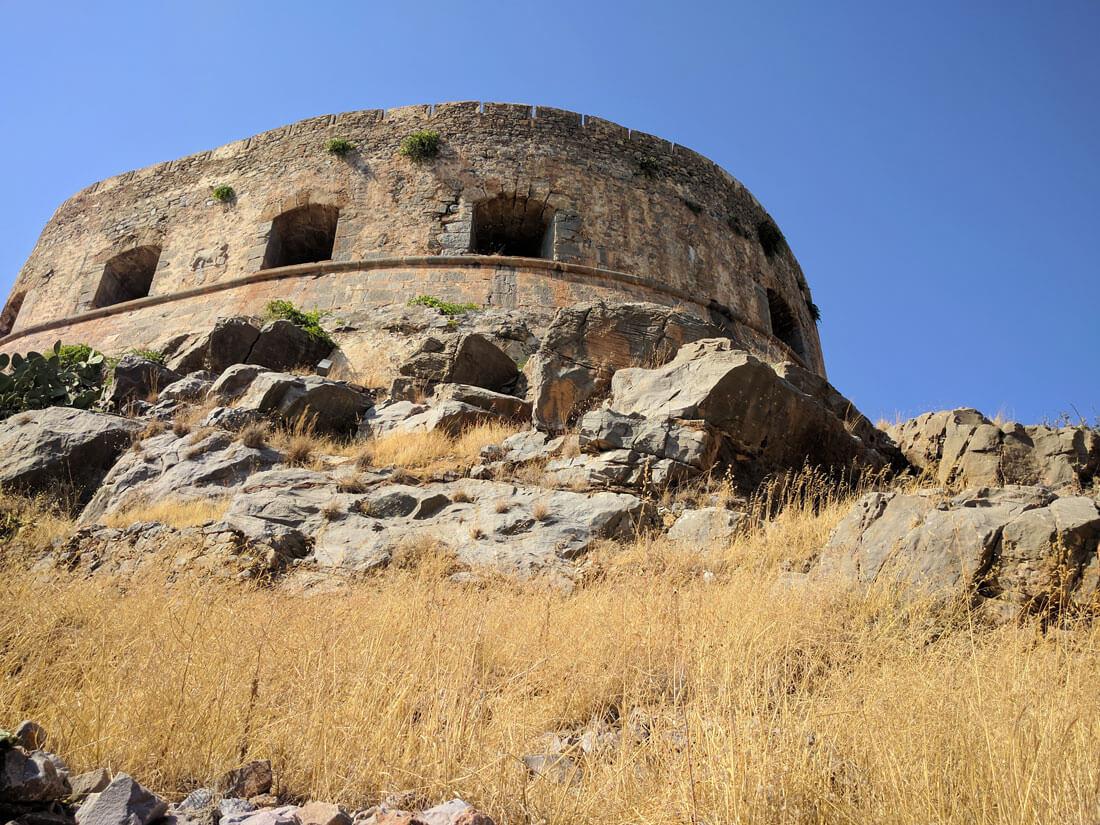 цитадель венецианской  крепости, что на острове Спиналонга